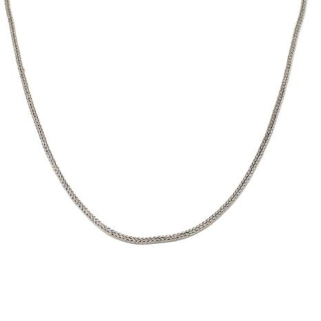 "Bali Designs 18"" Sterling Silver & 18K Gold Wheat-Link Chain Necklace"