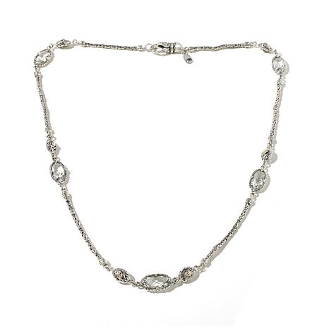 "Bali Designs 19ctw White Topaz Station 22"" Necklace"