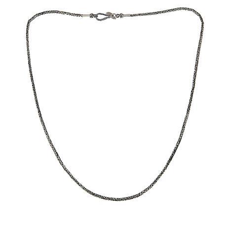 "Bali Designs 2.5mm Byzantine Sterling Silver Necklace - 20"""