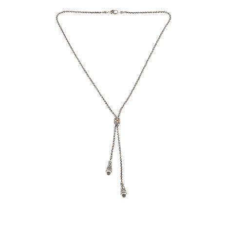 "Bali Designs 3.06ctw White Topaz 22"" Y-Necklace"