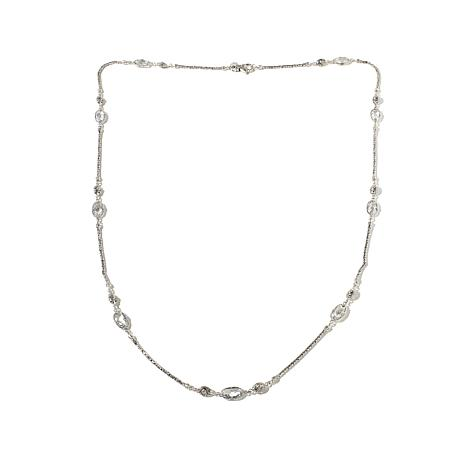"Bali Designs 34.2ctw White Topaz Station 40"" Necklace"