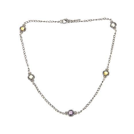 "Bali Designs 8.05ctw Round Multigem 22"" Necklace"