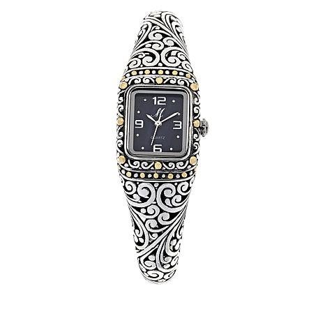 6aaca6e66 Bali Designs Black Mother-of-Pearl Dial Cuff Watch - 8817555 | HSN