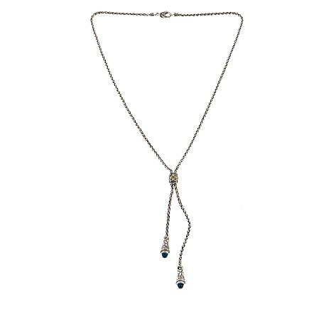 "Bali Designs by Robert Manse 3.06ctw Blue Topaz 22"" Y-Necklace"