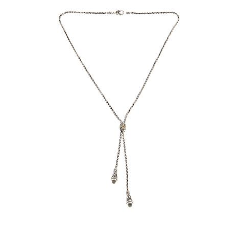 "Bali Designs by Robert Manse 3.06ctw White Topaz 22"" Y-Necklace"