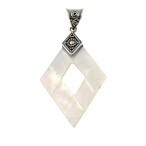 Bali Designs by Robert Manse Diamond-Shaped Mother-of-Pearl Pendant