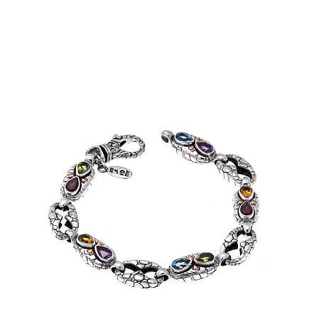 "Bali Designs Cobblestone-Link Multigem 7-1/4"" Bracelet"