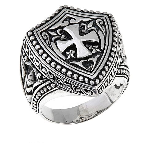 rocker and c shield of style dual all jewelry america heavy products sterling mens rings biker grande r agents ring size harley silver hydra ganesha captain copy