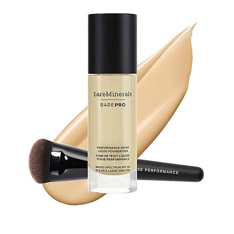 bareMinerals Warm Light 07 barePRO Liquid Foundation with Luxe Brush