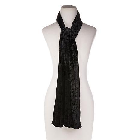Basha Crinkle Velvet Neck Wrap