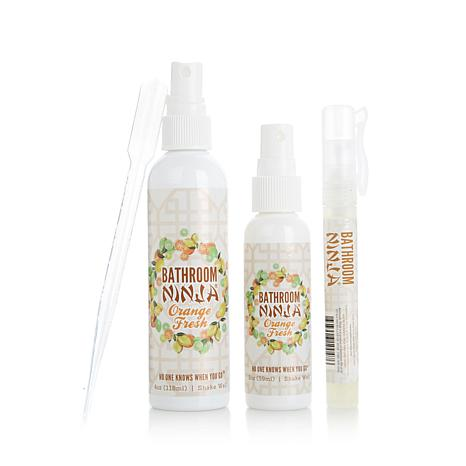 Bathroom Ninja Odor Eliminator 3pc Kit - Orange Fresh