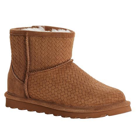 BEARPAW® Aleesa Suede Sheepskin Short Boot with NeverWet™