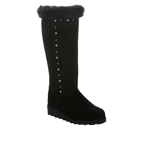 BEARPAW® Dorothy Suede Tall Zip Boot with NeverWet™