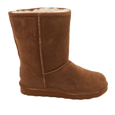 Elle Short Suede Sheepskin Boot with
