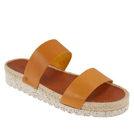 BEARPAW® Paula Leather Platform Slide Sandal
