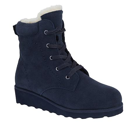 BEARPAW® Phoebe Suede Sheepskin Lace-Up Hiker Boot  with NeverWet™