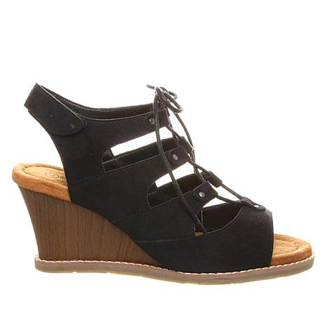 BEARPAW® Rhonda Lace-Up Wedge Sandal