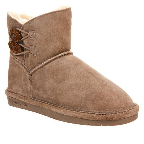 BEARPAW® Rosy Suede Sheepskin Button Boot with NeverWet™