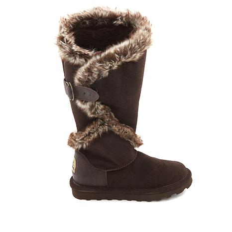 Sheilah Suede and Faux Fur Tall Boot