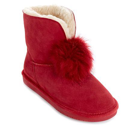 BEARPAW® Suede Sheepskin Pom Pom Boot