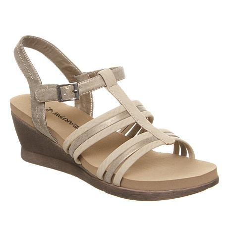 BEARPAW® Viola Strappy Wedge Sandal