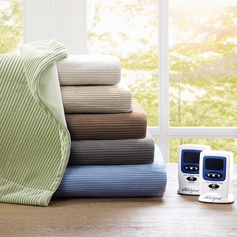 Beautyrest Washable Fleece Electric Blanket -King/Taupe