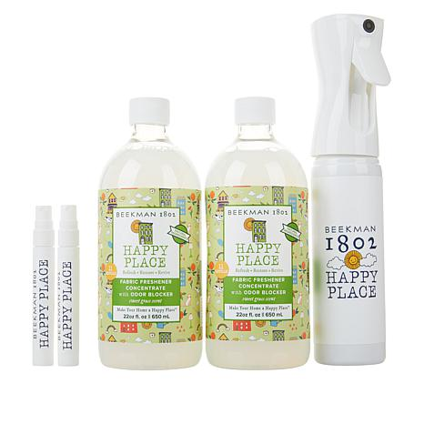 Beekman 1802 Happy Place Sweet Grass Fabric Freshener Concentrate Kit