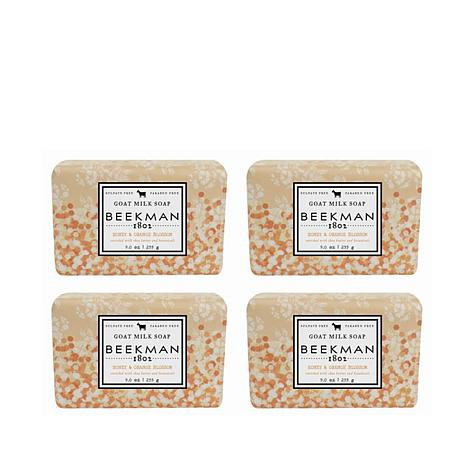 Beekman 1802 Honey & Orange Blossom Goat Milk Bar Soap 4-piece Set