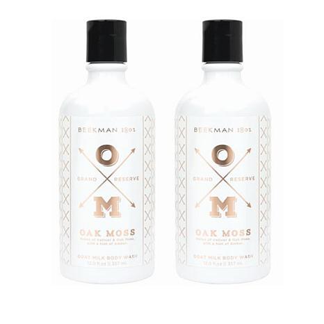 Beekman 1802 Oak Moss Goat Milk Body Wash Duo