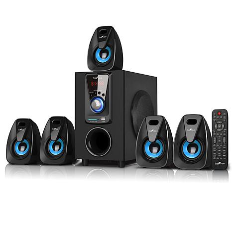 beFree Sound 5.1-Ch. 25W + 10W Bluetooth Speaker System