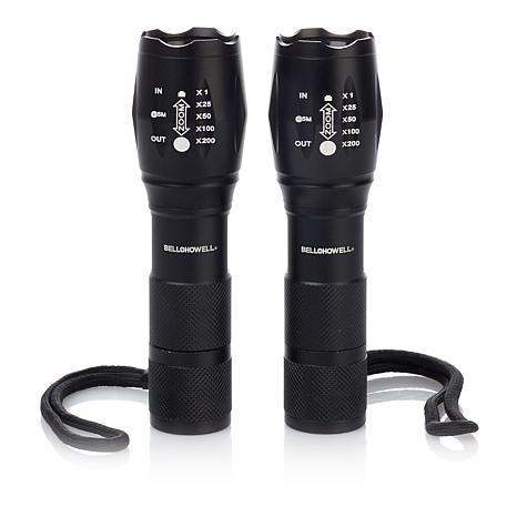 Bell + Howell TacLight DLX High-Performance Flashlight 2-pack