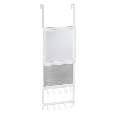 ... Bellevue Over The Door Jewelry Storage With Mirror ...