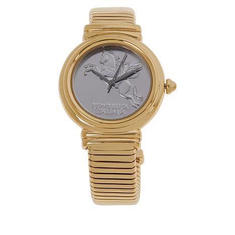 Bellezza 10 Lira Coin Pegasus Tubogas Cuff Watch