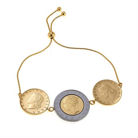Bellezza 500 and 20 Lira Coin Adjustable  Bracelet