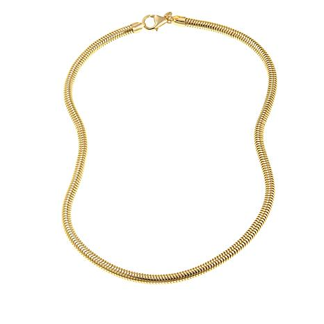 "Bellezza Bronze Snake Chain 18"" Necklace"