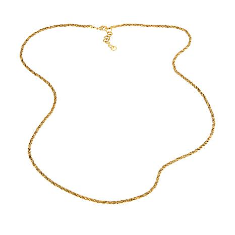 "Bellezza Bronze Twisted Rope-Link 38-1/2"" Necklace"