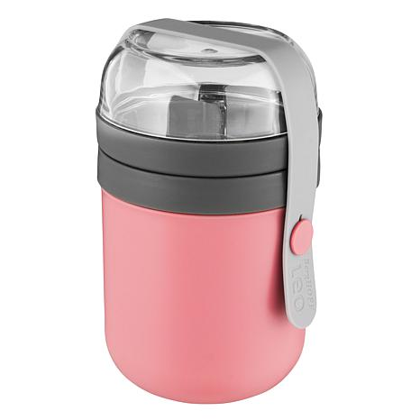 BergHOFF Leo Collection 2-Cup Dual Lunch Pot - Pink & Gray