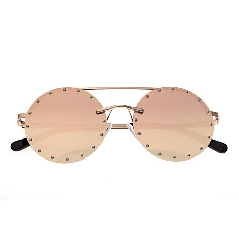 Bertha Harlow Polarized Sunglasses with Rose Gold Frame and Lenses