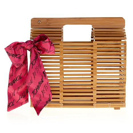 Betsey Johnson Woodey 2 Shoes Slatted Clutch