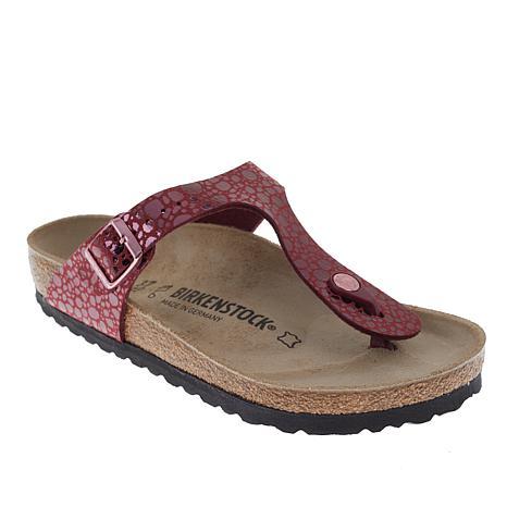 9de383d4b Birkenstock Gizeh Metallic Stones Thong Comfort Sandal - 8712539 | HSN