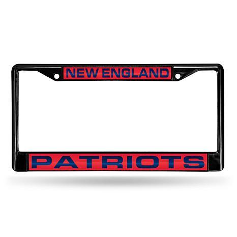 Black Chrome License Plate Frame - New England Patriots