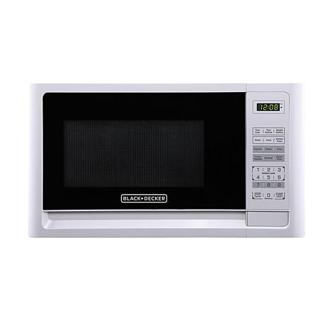 Black+Decker 1.1-Cubic Foot Microwave in White