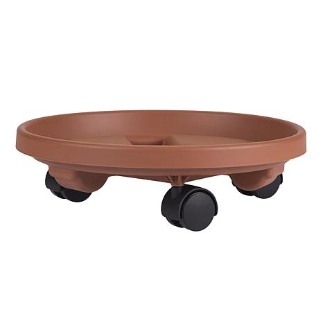 Bloem 16-inch Rolling Plant Caddy - Terra Cotta Color