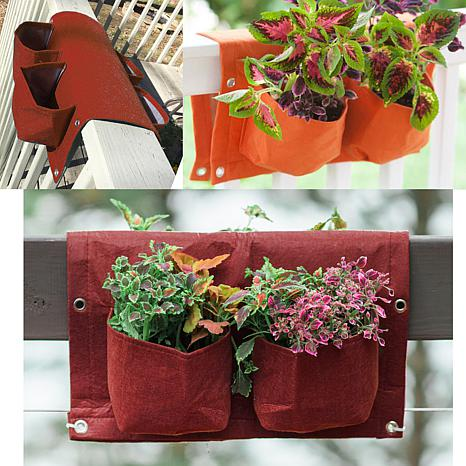 BloemBagz 3-Gallon Deck Rail Planter Bag - 17-1/4""