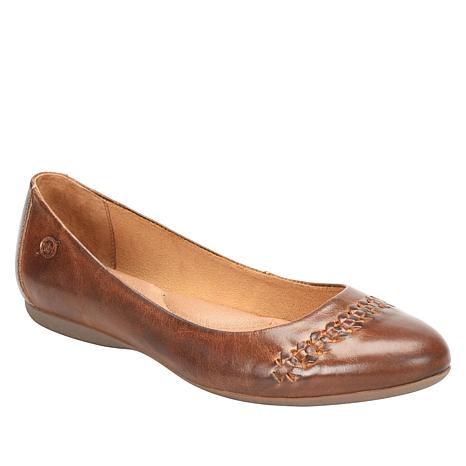 Born® Madeline Leather Woven Detail Ballet Flat