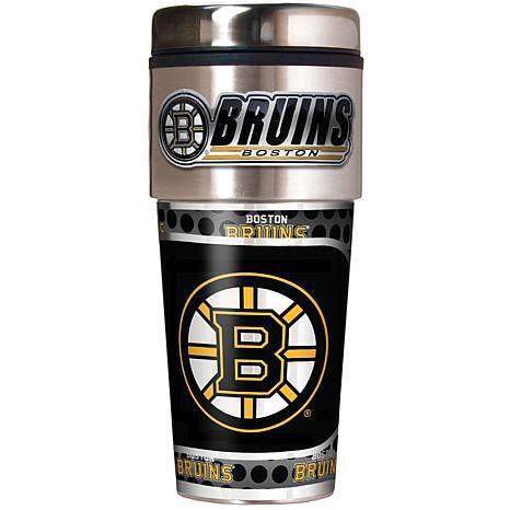 Boston Bruins Travel Tumbler w/ Metallic Graphics and Team Logo