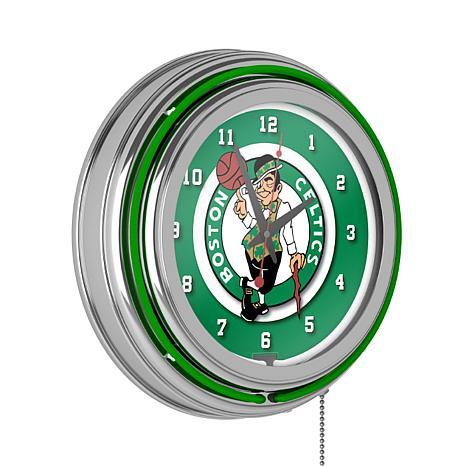 Boston Celtics Double Ring Neon Clock