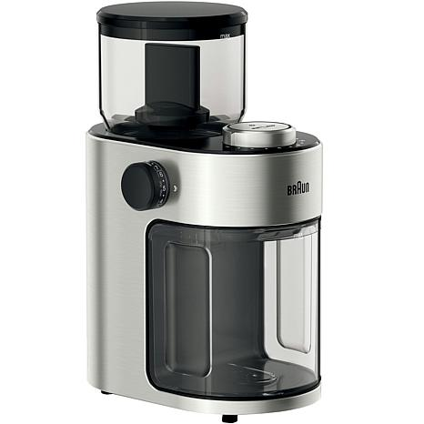 Braun FreshSet 12-Cup Burr Coffee Grinder in Stainless Steel/Black