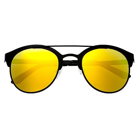 Breed Phoenix Polarized Sunglasses - Black Frames and Yellow Lenses