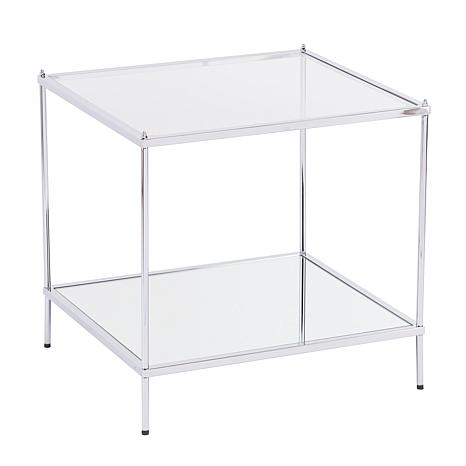 Bremond Glam Mirrored End Table - Chrome